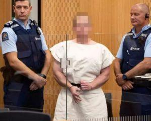 新西蘭基督城白人優越主義者塔蘭特在法庭受審